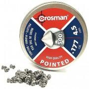 Пули пневм. Crosman Pointed 4,5мм 7,4гран 500шт.